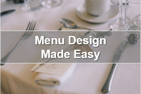 Menu Design Made Easy